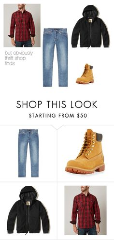 """Kasim_Day 1 Homeless"" by logikitty on Polyvore featuring A.P.C., Timberland, Hollister Co., Age Of Wisdom, men's fashion and menswear"