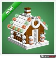 http://www.chrismcveigh.com/cm/gingerbread_house_part_list.html Lego Christmas Ornaments