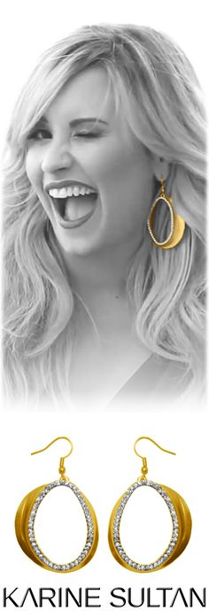 Chloe (gold) earrings  worn by Demi Lovato  by Karine Sultan jewelry  gold dangle earrings