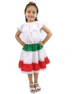 Leos Mexican Imports Girls Mexican Dress - List price: $21.99 Price: $18.95 Saving: $3.04 (14%) + Free Shipping
