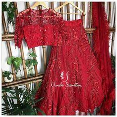 Priyanka Chopra Sabyasachi Lehenga Cost + Similar Budget Lehengas In Red - Frugal2Fab Sabyasachi Wedding Lehenga, Red Wedding Lehenga, Red Lehenga, Indian Bridal Lehenga, Saree Blouse Neck Designs, Lehenga Designs, Blouse Designs, Indian Dresses, Indian Outfits