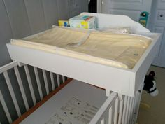Beau Crib Top Change Table DIY Home Made To Fit The Crib Top. Has Compartments On