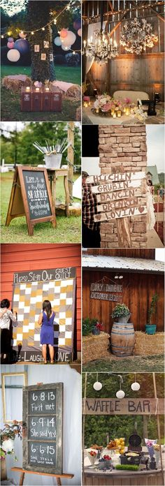 rustic country hay bale wedding decor ideas / http://www.deerpearlflowers.com/country-rustic-wedding-ideas/ #weddingdecoration