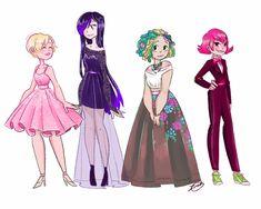 More fashion~ (Miraculous Ladybug, Juleka, Rose, Mylene, Alix)