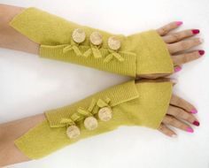 Fingerless mittens arm warmers fingerless gloves arm by piabarile, $25.00
