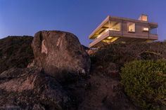 This private concrete residence located in Tunquen, Chile, was designed in 2015