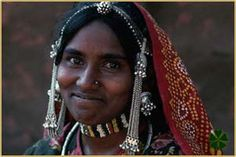Bhil Woman in Traditional Dress, Madhya Pradesh, India