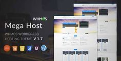 Download and review of Hosting, Technology, Software And WHMCS Wordpress Theme - Megahost, one of the best Themeforest Technology themes