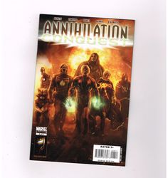 "ANNIHILATION CONQUEST #6 Grade 9.4 Key issue: 1st ""new"" Guardians of the Galaxy!  http://www.ebay.com/itm/ANNIHILATION-CONQUEST-6-Grade-9-4-Key-issue-1st-new-Guardians-Galaxy-/291566838030?roken=cUgayN&soutkn=D8z9Vn"