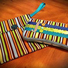 Custom made Travel wipe case & diaper clutch from Bella Bowlicious on facebook