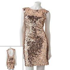 Gold Sequin Dress/ Khols.com