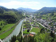Austria. View from Hohenwerfen.