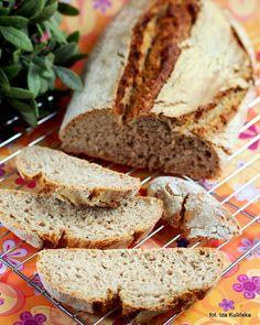 Smaczna Pyza: Domowe pieczywo - chleb pszenno żytni z płatkami owsianymi, na zakwasie