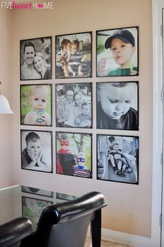 Incredible Wall Gallery Ideas For Perfect Wall Decor 5222 Family Pictures On Wall, Family Wall, Display Family Photos, Frames On Wall, Wall Collage, White Frames, Black And White Photo Wall, Decoration Photo, Gallery Frames
