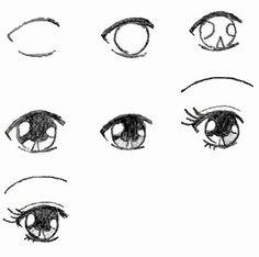 Como dibujar un ojo de Manga                                                                                                                                                                                 Más
