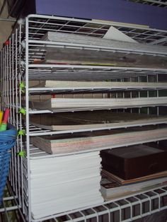 diy paper storage...i'm so doing this, I already have these...love free