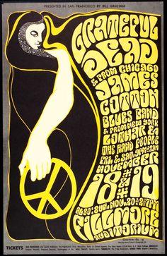 Fillmore Poster  Grateful Dead, James Cotton Blues Band,
