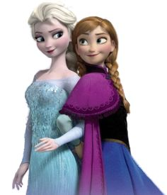 Elsa and Anna... they both remind me SO much or Rapunzel... maybe it's the animation style but they look an awful lot like her!