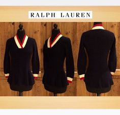 Excited to share this item from my shop: Ralph Lauren Old School Tennis Sweater Polo Sweater, School Fashion, Vintage Sweaters, Old School, Knitwear, Peplum, Vintage Fashion, Ralph Lauren, Pullover