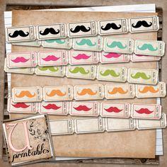 smash book printables | printables by RebeccaB: FREE Printable - Moustache Tickets
