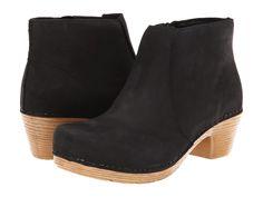 Dansko Maria Black Milled Nubuck Pull-on Boots