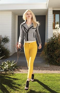 You can spend over $900 for this outfit at Nordstrom OR.... Around $120 (or less!) for it from CAbi - get the Spring 12 gather tank, Indie Jacket and the Limon Cropped Brees!  HOT!