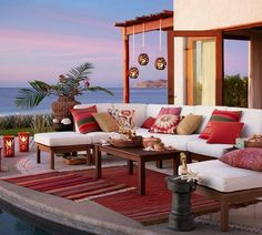 Inviting seating with stunning view!