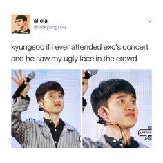 lol exo funny joke d.o kyungsoo funny meme Kyungsoo, Chanyeol, Kaisoo, Chanbaek, K Pop, Exo Memes Funny, Exo Concert, Kdrama Memes, Z Cam