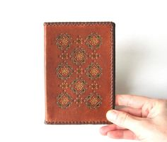 Notebook Cover Embossed Leather Memo Book Vintage by MerilinsRetro