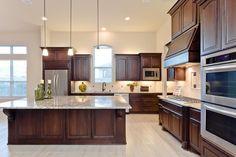 Traditional Kitchen with Limestone Tile, MS International Blanco Taupe Granite Counter, limestone tile floors, Custom hood