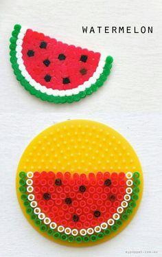 Watermelon perler beads