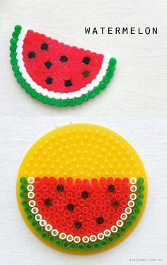 Watermelon perler beads