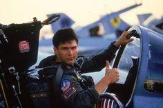 "Tom Cruise as Maverick in ""Top Gun"" (1986)"