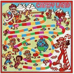 "Candy Land game Rug ***Includes Carrying Backpack*** by Hasbro. $39.95. Includes: 4 gingerbread character pieces & 18 playing cards. Machine wash. 40"" x 40"". Nylon. Ages 3 & up. How sweet it is! Your children will love this Candy Land game rug. In red/multi."