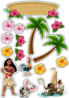 Clique na imagem e visite nosso site, lá você encontrará essa e outras imagens em alta qualidade. Moana Birthday Party, Moana Party, Ballerina Birthday, Luau Birthday, Birthday Parties, Moana Printables, Festa Moana Baby, Moana Theme, Princess Moana