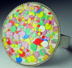 Nail Polish Ring  Lumina Lacquer Crushing Candy by BeadsInk, $10.00