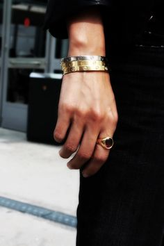 nothing says LOVE like a Cartier LOVE bracelet...LOVE IT