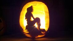 little mermaid pumpkin #pumpkin #carving #summer
