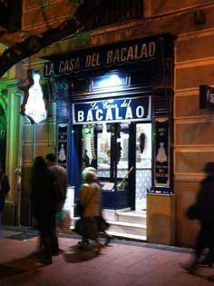 La Casa del Bacalao situada en la calle Goya