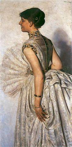 Jacek Malczewski - Portrait of bride Maria Gralewski