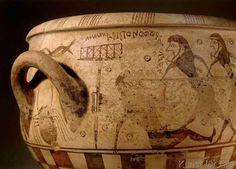 Griechische Vasenmalerei - Blendung des Polyphem / Aristonothos