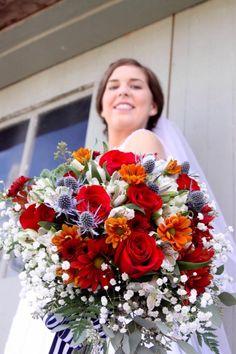 Fall wedding bride bouquet