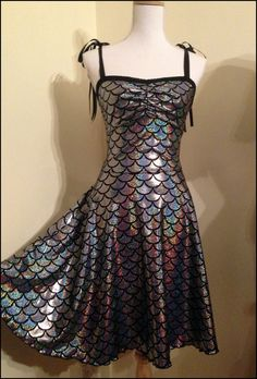Sparkling Mermaid Lycra Swing Dress Size Medium by annaladymoon