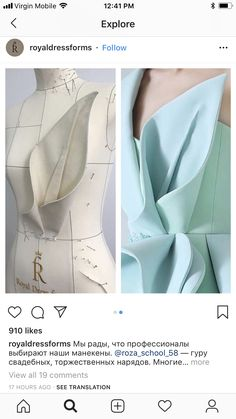 This skirt looks like it should be in anime - Salvabrani Draping Techniques, Techniques Couture, Couture Details, Fashion Details, Fashion Sewing, Diy Fashion, Sewing Clothes, Diy Clothes, Mode Origami