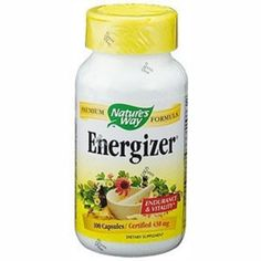 I'm learning all about Nature's Way Energizer at @Influenster!