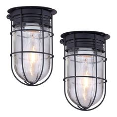 2 Pack of Bennington Northport Outdoor Caged Light Barn Ceiling Exterior Wall All Weather with Cages, Black – Residential Lighting Outdoor Ceiling Lights, Outdoor Sconces, Porch Lighting, Barn Lighting, Farmhouse Lighting, Outdoor Lighting, Industrial Lighting, Exterior Barn Lights, Exterior Wall Light