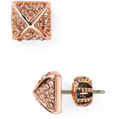 Juicy Couture Heavy Metal Pyramid Stud Earrings ($48) ❤ liked on Polyvore