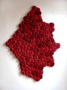 Pelt/emily barletta/art crochet/ wall hanging/-looks like corals Crochet Wall Art, Organic Shapes, Organic Patterns, Organic Form, Little Shop Of Horrors, Felt Material, Textiles, Yarn Thread, Felting Tutorials
