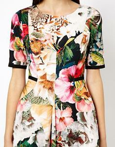 Image 3 ofTed Baker Dress in Tangled Floral Print