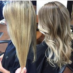 Before & After: Overhighlighted Blonde to New and Natural. Color by @_lovelovelife_ #hair #hairenvy #hairstyles #haircolor #blonde #beforeandafter #makeover #balayage #highlights #newandnow #inspiration #maneinterest